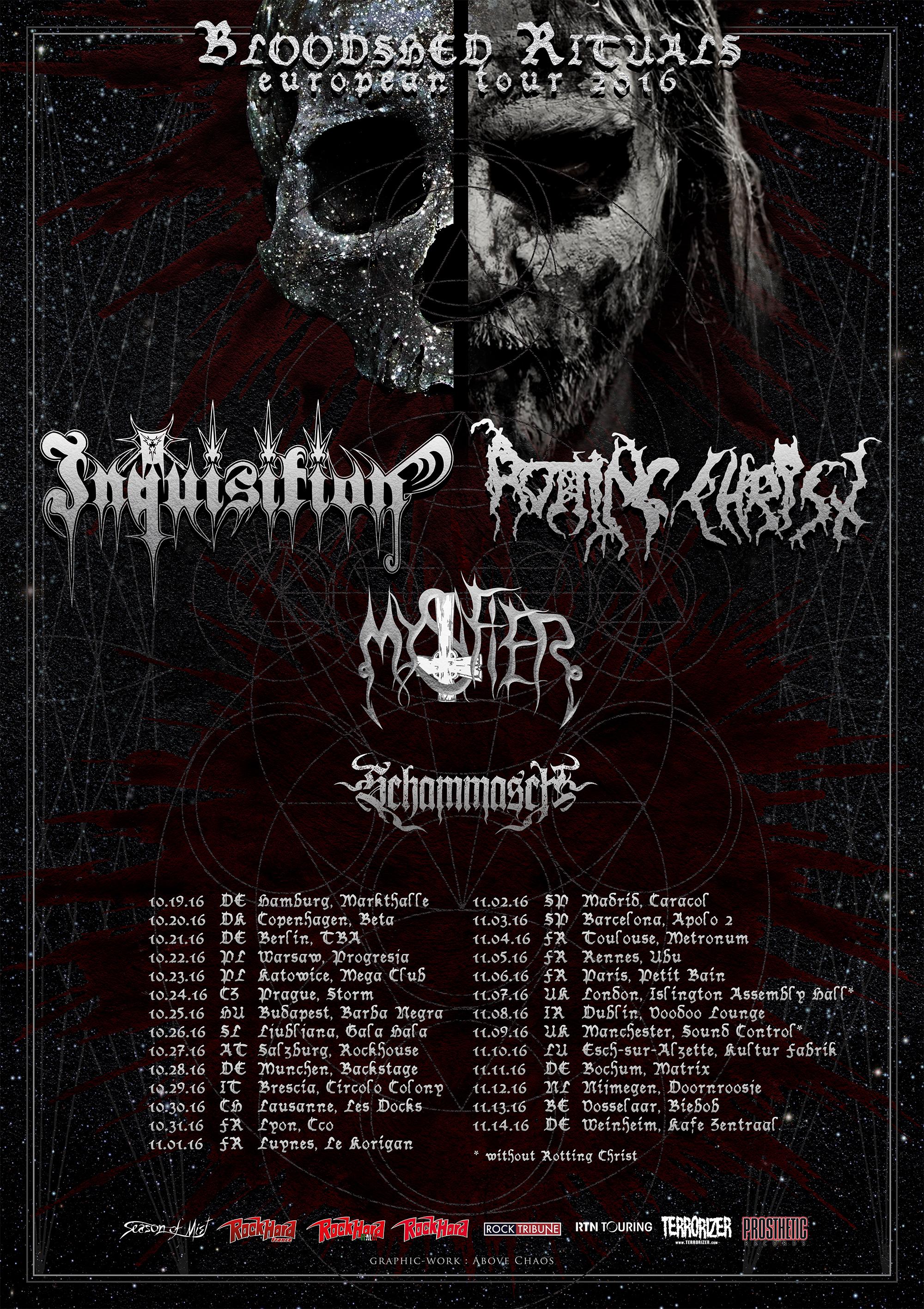 Rotting Christ & Inquisition - EU Tour 2016 - Bloodshed Rituals